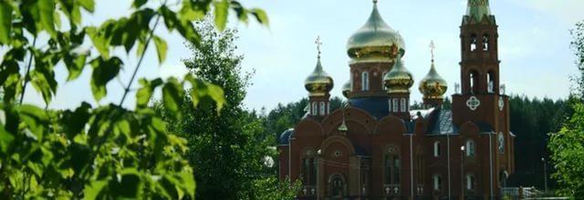 Храм во имя святого великомученика Георгия Победоносца в г. Чайковском.